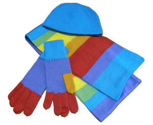 Вязаные шарфы, шапочки и перчатки с логотипом. Производство под заказ